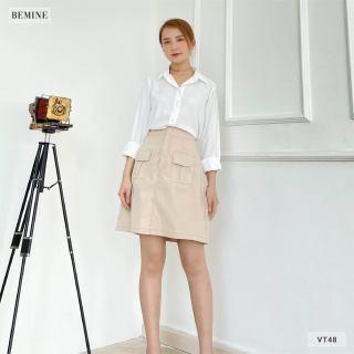 Chân váy chỉ nổi 2 túi BEMINE VT48DA thumbnail
