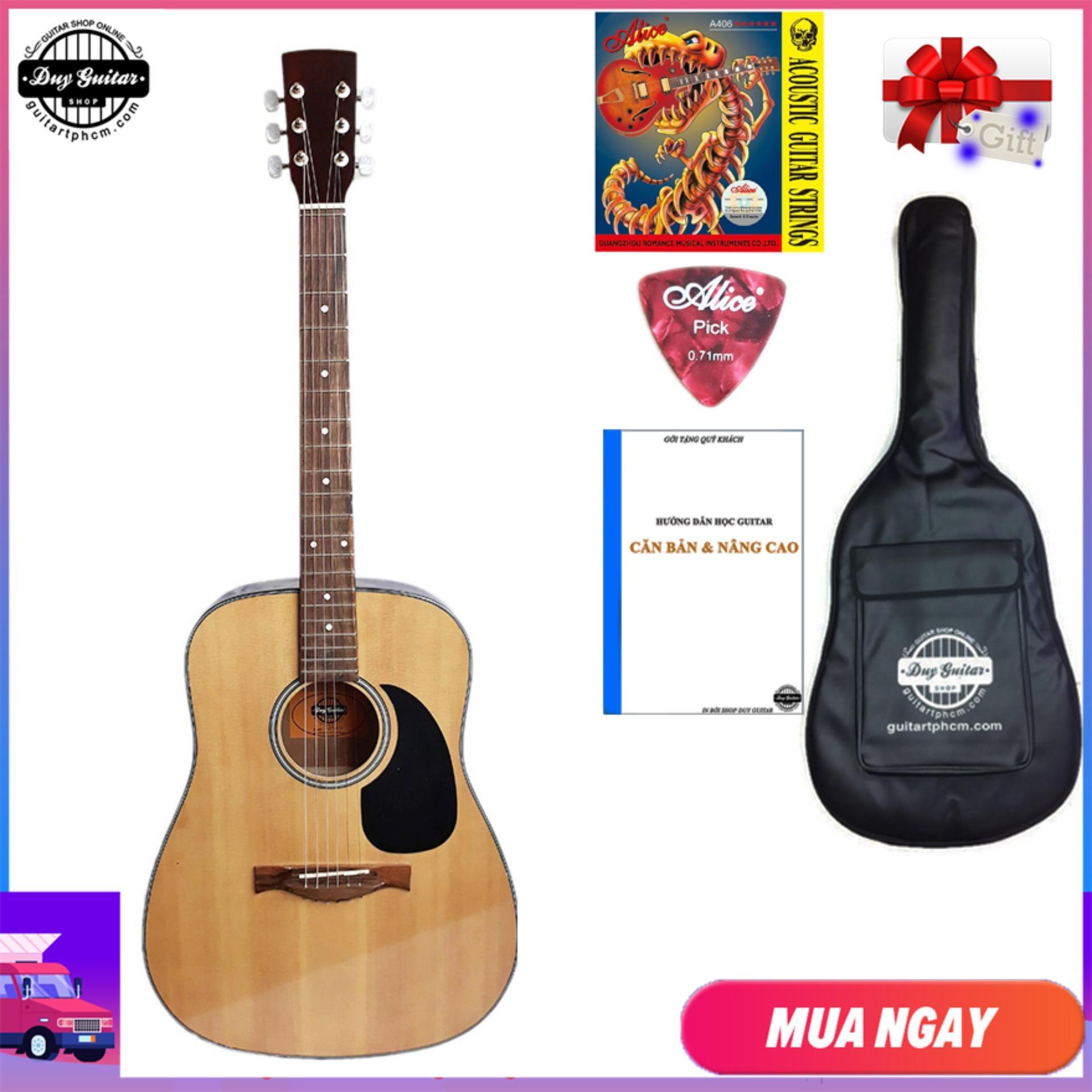 Đàn Guitar Acoustic DVE70 D  dáng D thùng to - Duy Guitar Store chuyên đàn ghi-ta đệm hát dành cho bạn mới tập