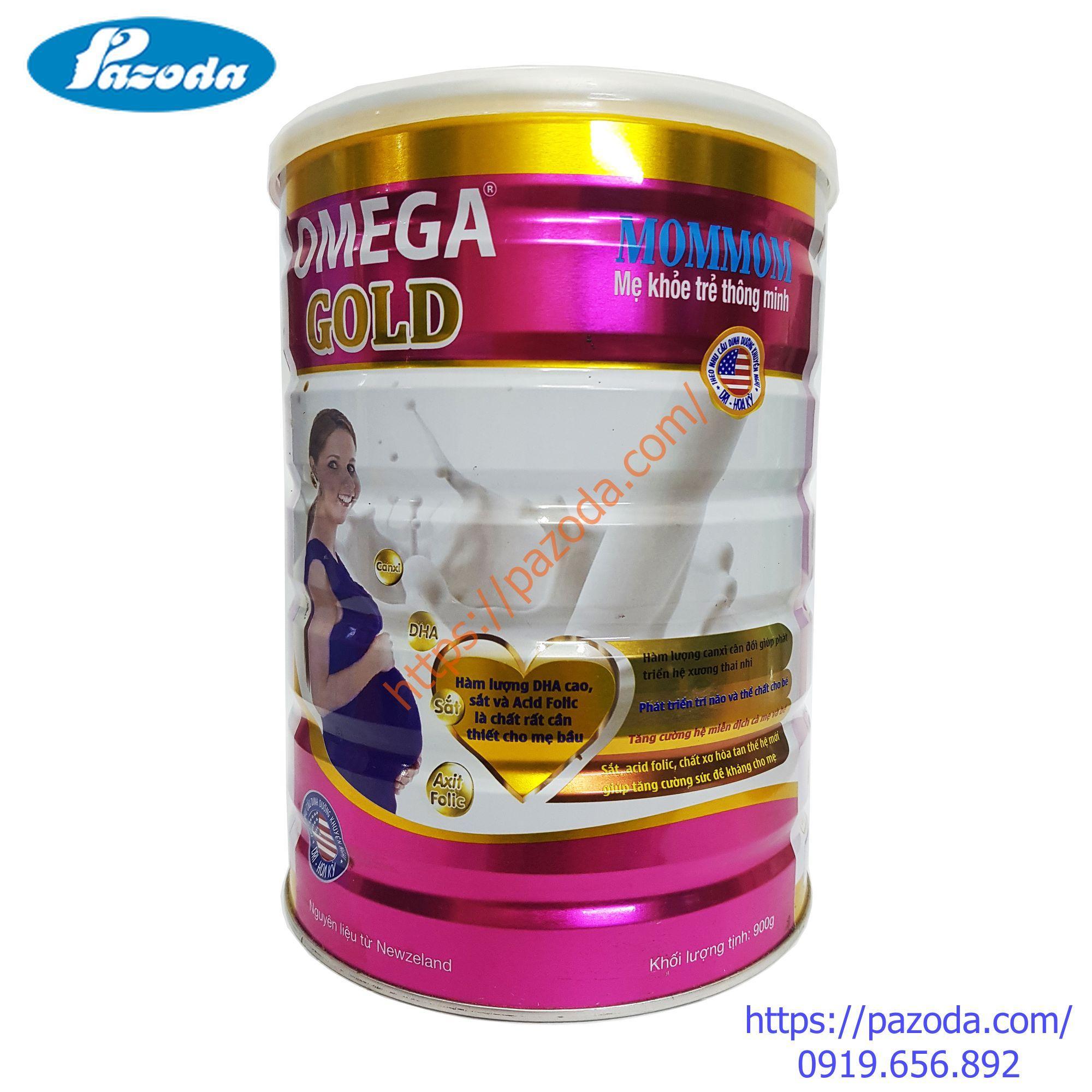 Sữa bột cho bà bầu OMEGA GOLD Mommom 900g chính hãng