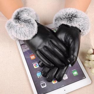 Găng tay nữ mùa đông da cao cấp cảm ứng điện thoại lót lông cực ấm mẫu đẹp thumbnail