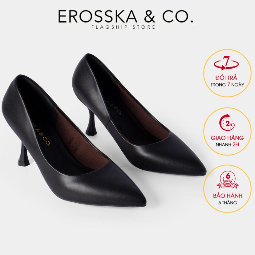 Giày cao gót Erosska thời trang mũi nhọn kiểu dáng cơ bản cao 8cm EP010 (BA) giá rẻ