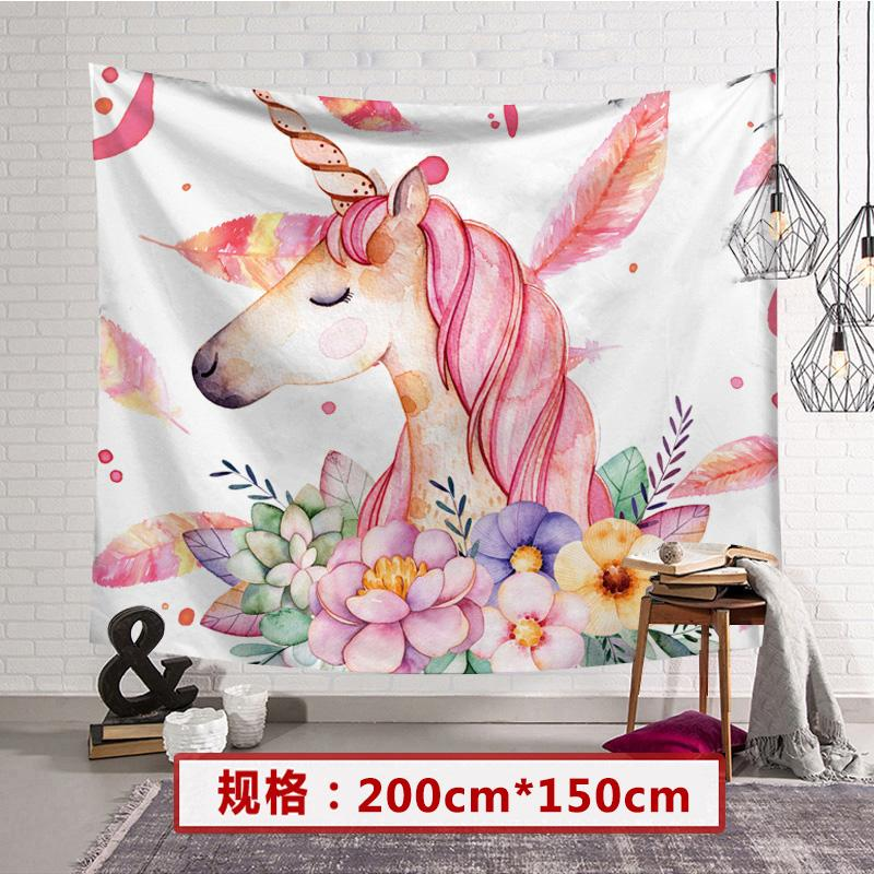 Background Cloth INS Cloth Wall Decoration Bedroom Online Celebrity Girls Wall Cloth Photo Taking Dormitory Transformation Bedside Wall