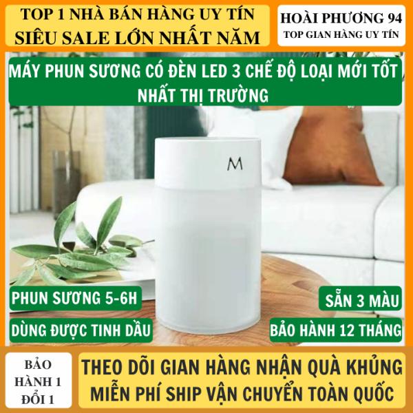 Máy Phun Sương Mini máy xông tinh dầu có đèn led 3 chế độ cực xinh phù hợp với mọi gia đình giúp không khí dễ chịu, máy khuếch tán tinh dầu, máy phun sương, xông tinh dầu