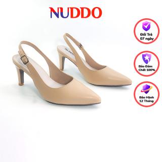 Giày Slingback cao gót nữ Nuddo 7cm thời trang da mềm cao cấp thumbnail