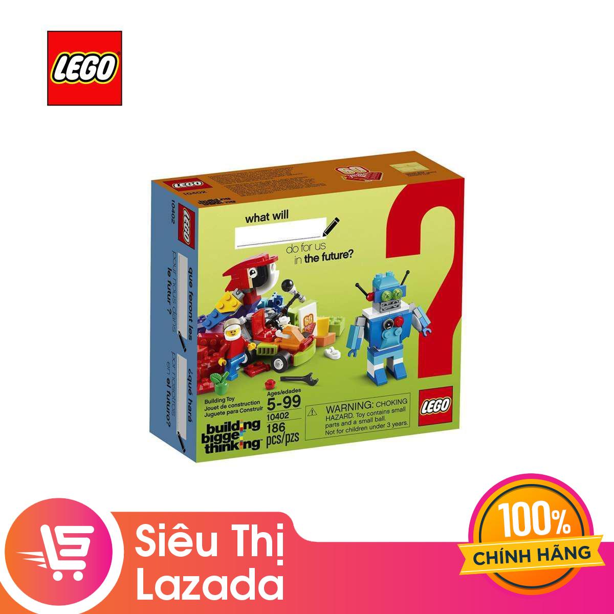 Giá Quá Tốt Để Có [Voucher Freeship 30k]Thùng Gạch Tương Lai Vui Nhộn LEGO BRANDCAMPAIGN - 10402 (186 Chi Tiết)