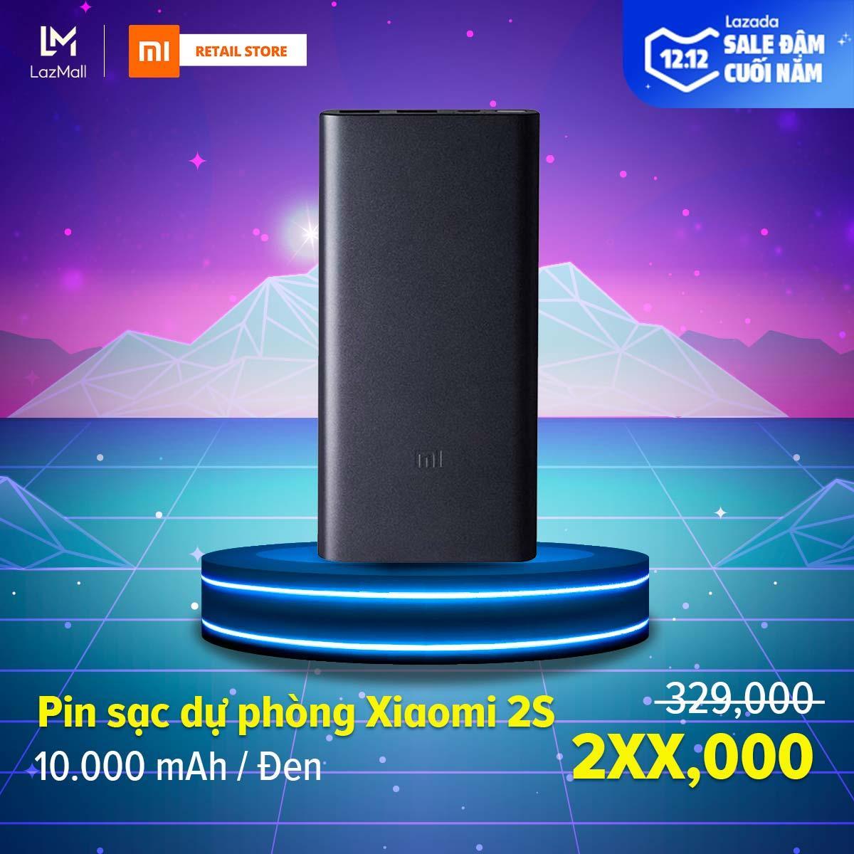 Deal Ưu Đãi [HÀNG CHÍNH HÃNG] Pin Sạc Dự Phòng Xiaomi 2S 10.000 MAh - Max 18W - Input Micro-USB / Output USB-A X2 - Vỏ Hộp Kim Nhôm Nguyên Khối Siêu Mỏng