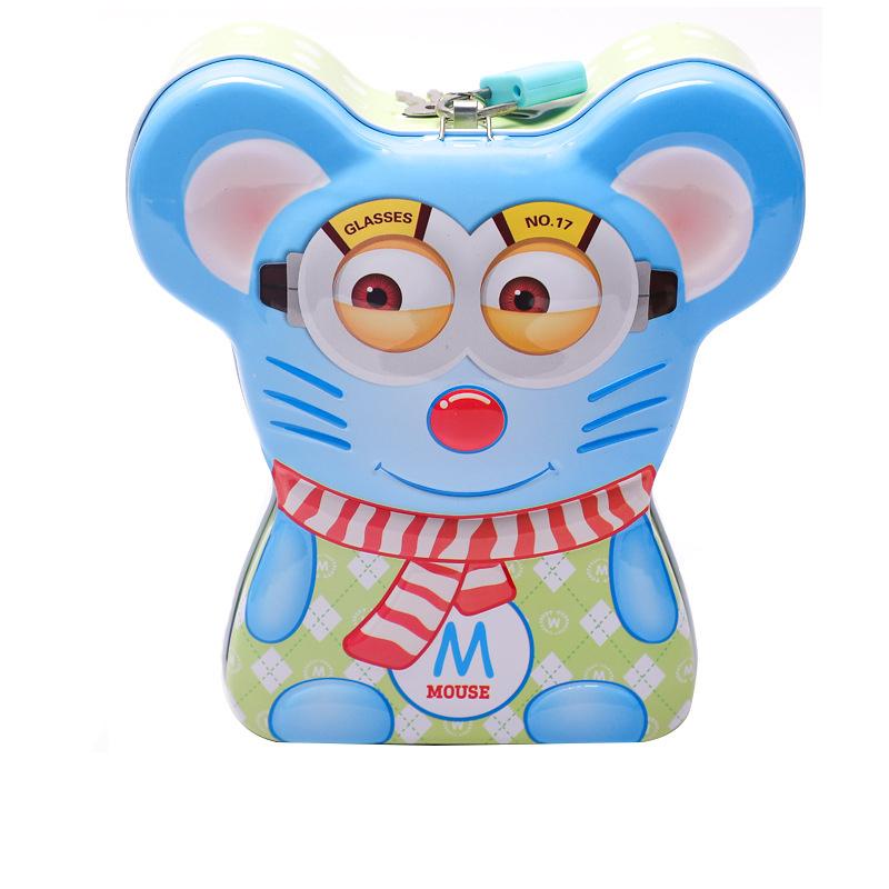 ống heo tiết kiệm, két sắt mini thông minh có khóa màu xanh, màu hồng đáng yêu cho bé trai, bé gái - Đồ khuyến mãi giá tốt