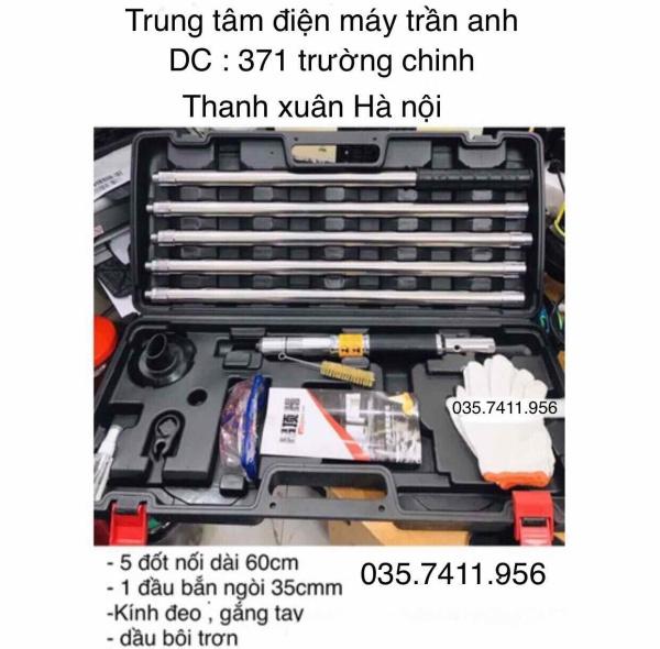 MAY BẮN TY TRẦN THẠCH CAO DÀI 3M4 hàng nhập khẩu loại 1 BH 6 tháng - dài 3m5 có khớp nối