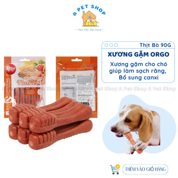Xương gặm sạch răng cho chó Orgo 90g/gói xương gặm sạch răng, bổ sung canxi cho chó - a pet shop