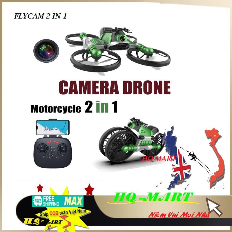 ❤️ Hàng xuất khẩu ❤️Máy bay flycam mini 2 trong 1 kiêm xe moto - Flycam giá rẻ 100k mini chất hơn flycam mavic 2pro,phatom 4 pro,xiaomi,sjrc f11 pro, Z5, 4K, XT1, F11, x1s, dji, e88, e68, gps,…...Flycam HQ Mart, flycam giá rẻ 100k mini