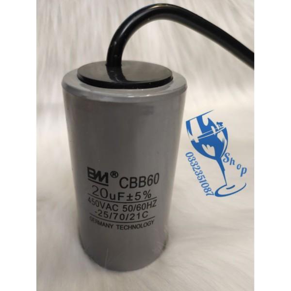 Bảng giá tụ BM CBB60 20uf-450v loại tốt dùng cho máy bơm - mô tơ