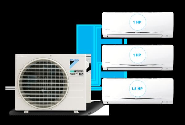 [Free Lắp HCM & HN] Combo 1.0HP + 1.0 HP + 1.5HP Inverter - Máy Lạnh Multi S Combo 3 Dàn Lạnh Treo Tường MKC70SVMV/CTKC25RVMV+CTKC25RVMV+CTKC35RVMV Điều Hòa 1 Chiều Lạnh Chính Hãng Daikin - Điện Máy Sapho