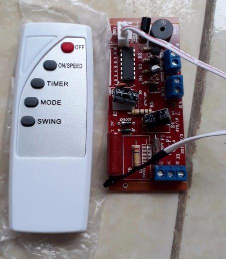 Mạch điều khiển quạt từ xa dành cho các loại quạt,Bộ mạch điều khiển từ xa cho quạt - Bản Tiếng Anh mạch đỏ xịn đủ ic bắt tín hiệu xa, bền đẹp