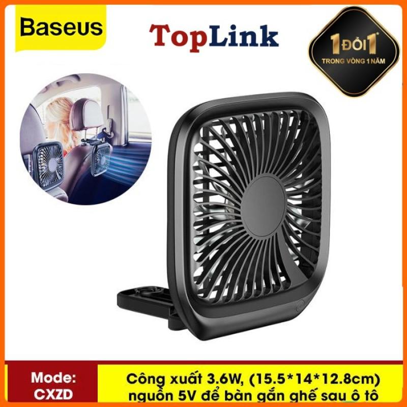 Quạt mini để bàn hoặc gắn ghế sau ô tô Baseus với 3 Tốc Độ làm mát sử dụng nguồn USB dùng cho nhân viên Văn Phòng hoặc trên xe hơi - Phân phối bởi TopLink