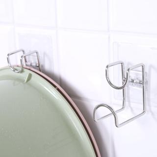 Móc dính tường treo chậu nhà tắm, móc inox treo đồ gia đình tiện tiện ích - IUM09 thumbnail
