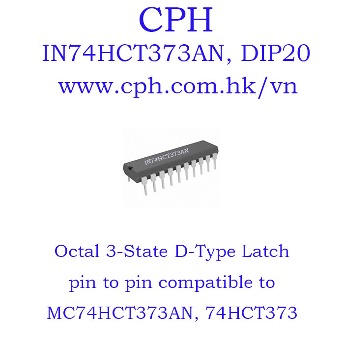 Giá 5pcs IN74HCT373AN IN74HCT373 MC74HCT373AN MC74HCT373 74HCT373 DIP20 IKSemicon Octal 3-State D-Type Latch