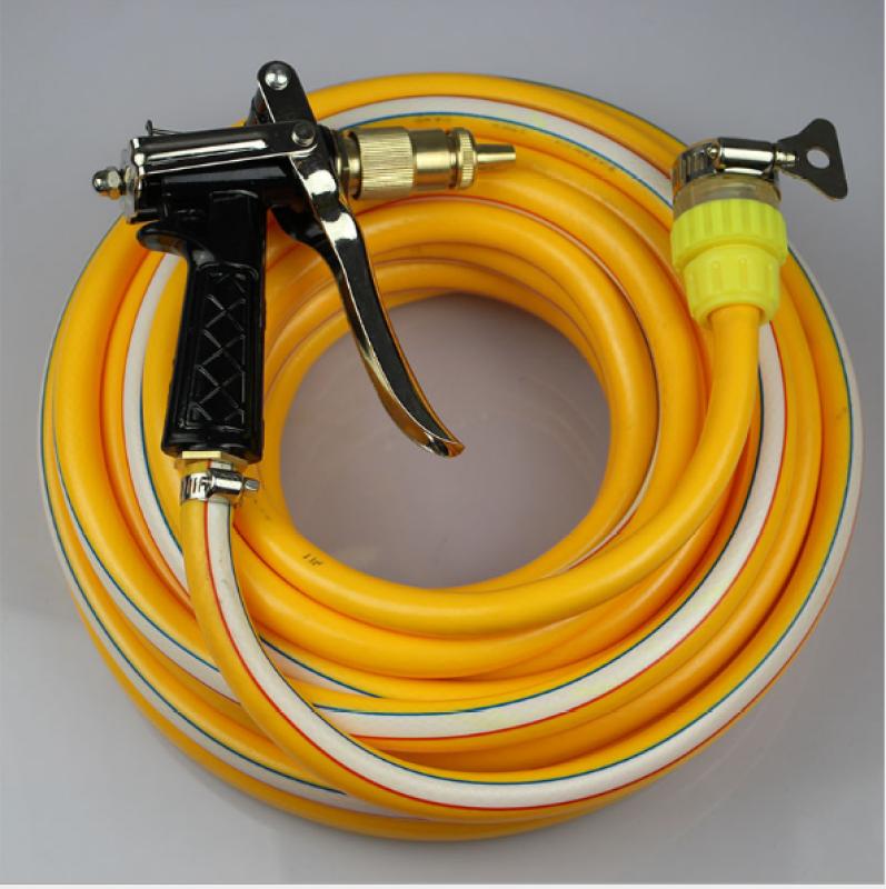 Vòi nước vòi phun nước rửa xe tưới cây tăng áp thông minh + bộ dây bơm nước 5m cao cấp TLG  206400 (dây vàng)