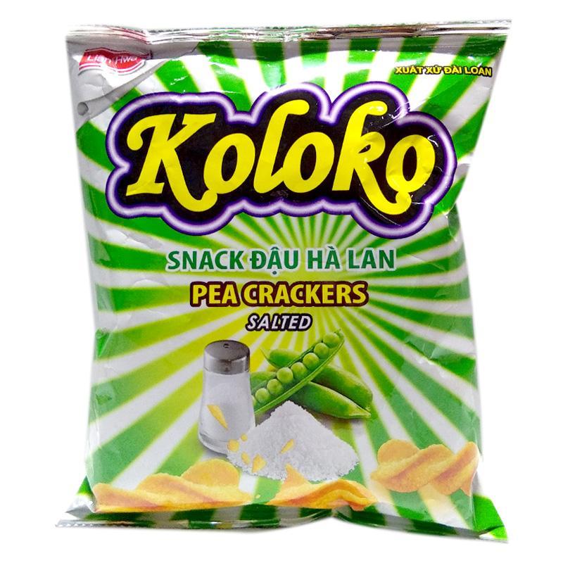 Snack Koloko đậu Hà Lan vị mặn gói 57g