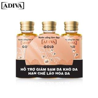 3 lọ Nước uống làm đẹp Collagen ADIVA Gold - Dưỡng chất uống làm đẹp da thumbnail