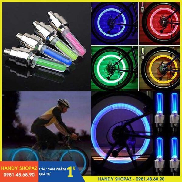 (CHỌN MÀU) Bộ 2 Đèn LED Gắn Van Bánh Xe Đạp, Xe Máy, Ô Tô HSA1148