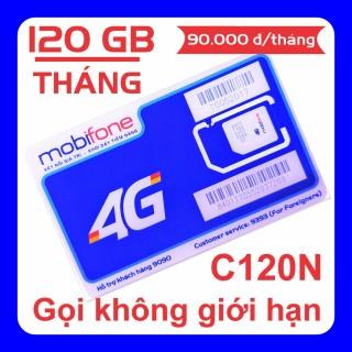 Sim Mobifone C120N 120GB tháng (4 GB ngày + 1000 phút nội mạng + 50 phút liên mạng) giống C90N thumbnail