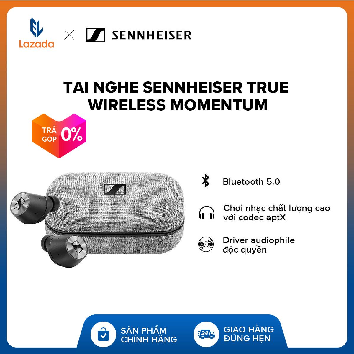 Giá Quá Tốt Để Có [VOUCHER 500K - TRẢ GÓP 0% - HÀNG CHÍNH HÃNG] Tai Nghe Sennheiser True Wireless Momentum L Noise Cancellation Beamforming | Transparent Hearing L Audiophile độc Quyền L Chống Nước IPX4