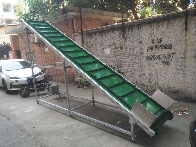 Incline Climb conveyor belt PU PVC belt Aluminum stainless steel structure customized conveyor