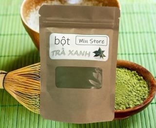 100g bột trà xanh Thái Nguyên - Nguyên chất 100% - Sạch thumbnail