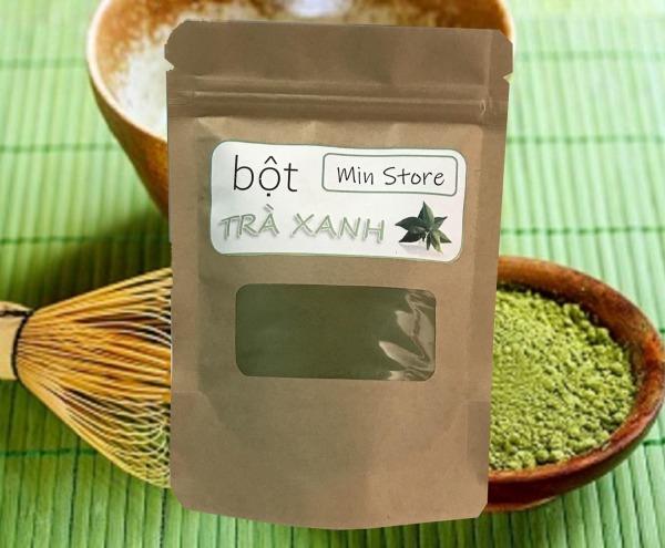 100g bột trà xanh Thái Nguyên - Nguyên chất 100% - Sạch