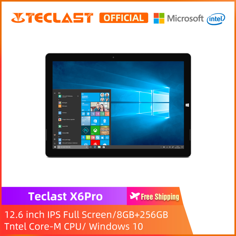 [Teclast Official] Máy tính bảng chuyển đổi X6Pro 2 in 1 / Màn hình IPS 12,6 inch / RAM 8GB 256 GB SSD / Windows 10 / CPU Intel Core-M / bảo hành 1 năm