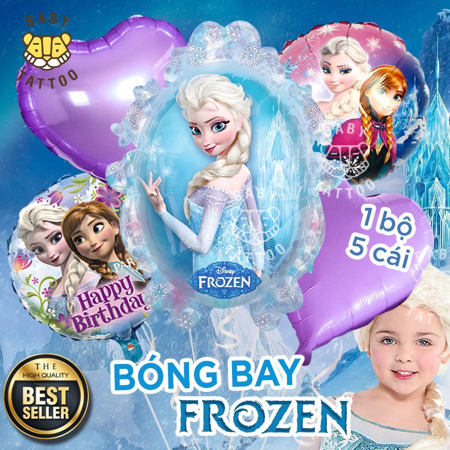 BABY TATTOO Set 5 Bong Bóng Công Chúa Elsa Frozen Phụ Kiện Sinh Nhật  Trang Trí Tiệc Cho Bé Happy Birthday Party Decorations Siêu Tiết Kiệm