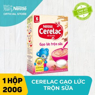 Bộ 2 hộp Bột ăn dặm Nestlé Cerelac 200g Gạo Lức Trộn Sữa + Tặng 1 lục lạc cầm tay thumbnail