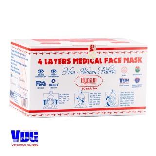 Khẩu trang y tế 4 lớp vải không dệt Hynam - Hộp 50 cái thumbnail