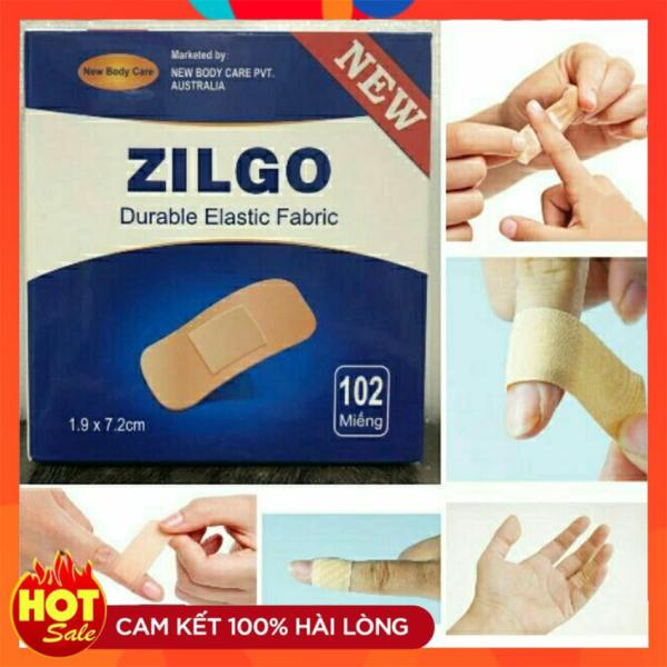 Băng cá nhân y tế hộp 102 miếng Zilgo 1,9x 7,2 cm- Băng vết thương nhỏ và mụn trứng cá