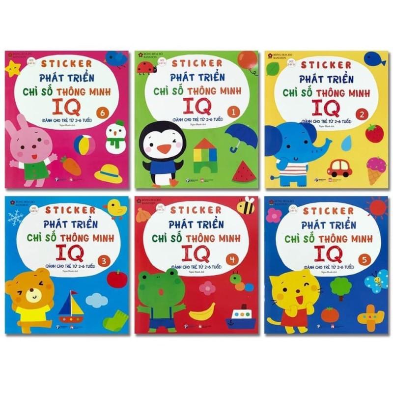 Sách Sticker Phát triển chỉ số thông minh IQ dành cho trẻ 2-6 tuổi