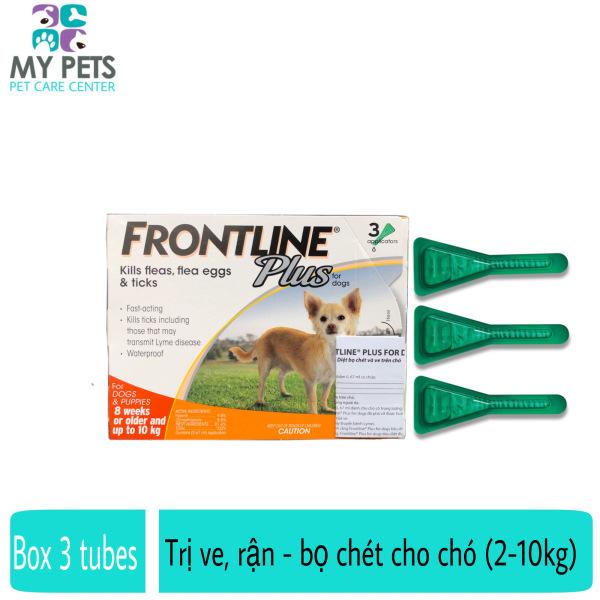 Frontline Plus nhỏ gáy hết ve rận, bọ chét cho chó (size 2-10kg) - Hộp 3 tuyp. ( 3 tubes. Full box)