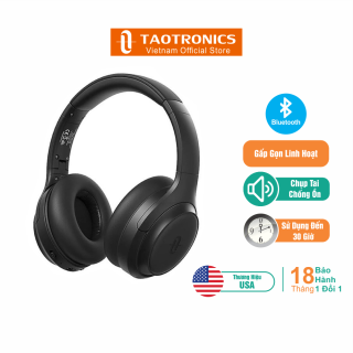 Tai Nghe Bluetooth Chụp Tai Chống Ồn TaoTronics TT-BH060, Công Nghệ Sạc Siêu Tốc, Hoạt Động 30 Giờ, Thiết Kế Thời Trang - Độc Quyền Chính Hãng thumbnail
