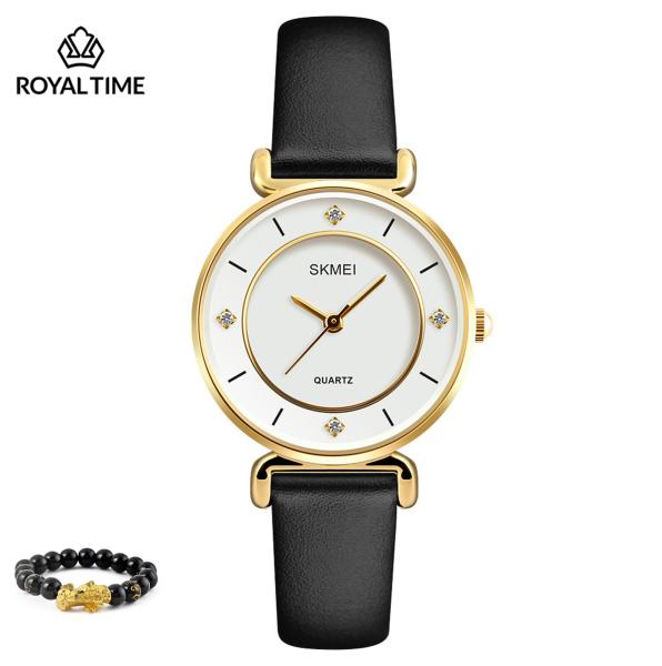 Đồng hồ thời trang  nữ SKMEI  chính hãng dây da cao cấp SK1330.02S - Fullbox - Tặng gói bảo hành 12 tháng - tặng vòng tay cao cấp - gói hàng cẩn thận đúng mẫu