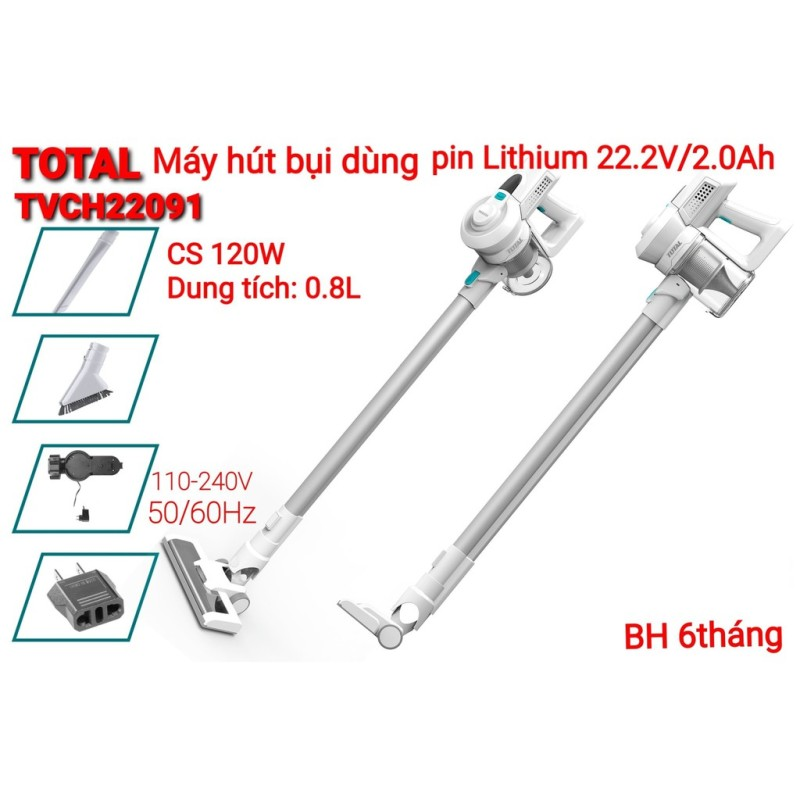 Máy hút bụi dùng pin Lithium 22.2V total TVCH22091