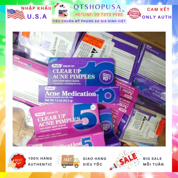 Kem ngăn ngừa mụn Rugby Clear Up Acne Medication 5 và 10 42.5g HÀNG MỸ QTSHOPUSA giá rẻ