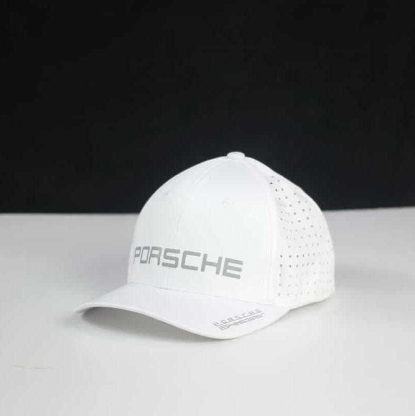 Mũ Lưỡi Trai Porsche , Nón Dù Lazer đục lỗ , Nón kết Màu trắng