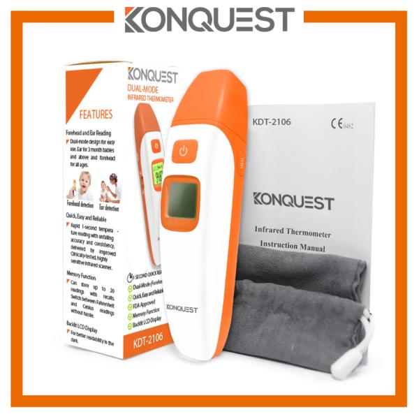 Nhiệt kế hồng ngoại điện tử cao cấp hàng xách tay USA thương hiệu Konquest tặng kèm quà tặng bán chạy