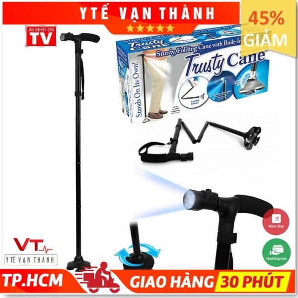 ✅ Gậy 1 Chân Có Đèn Pin: Gấp Gọn Trusty Cane Chống Trượt - VT0540 [ Y Tế Vạn Thành ] nhập khẩu