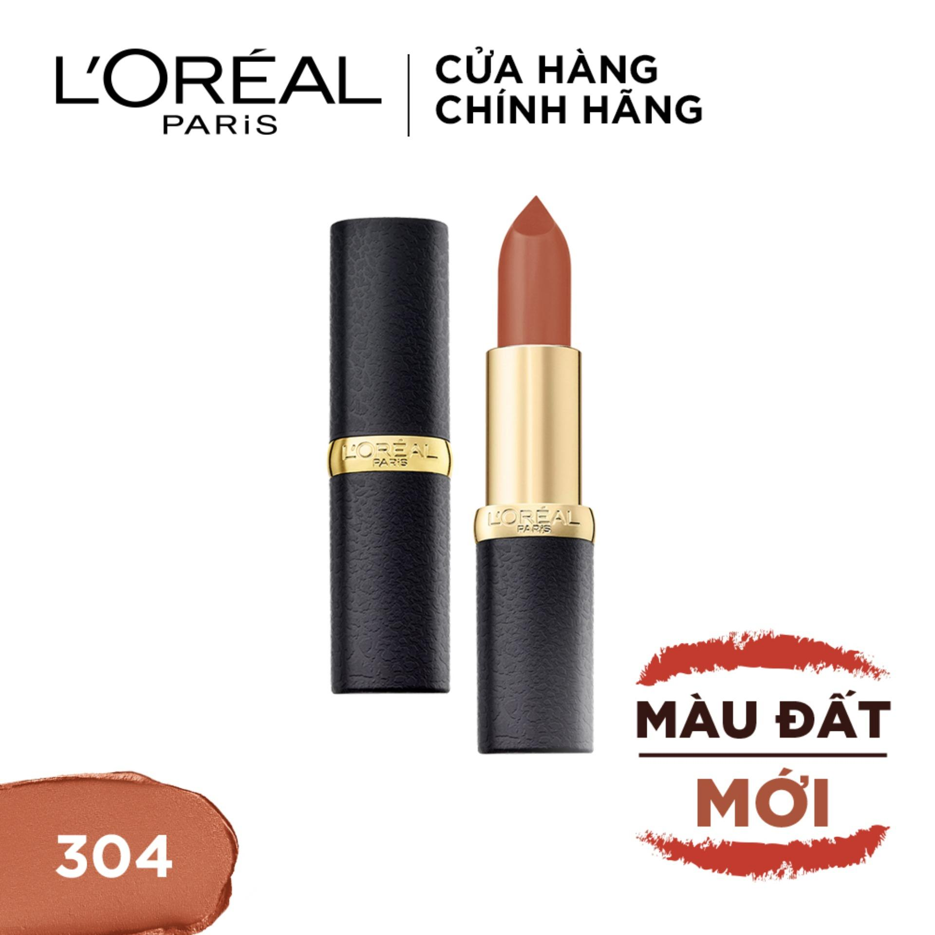 Son lì mịn môi LOreal Paris Color Riche Matte Earth On Fire 3.7g tốt nhất