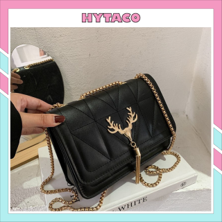 Túi xách nữ siêu xinh đeo chéo thời trang nữ tính đầu khóa đầu hươu xinh xắn HYTACO thumbnail