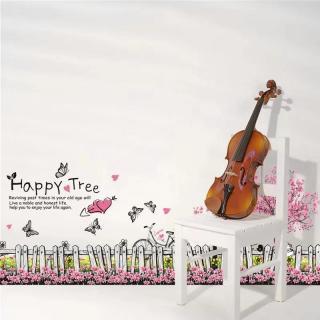 Decal trang trí dán tường hàng rào hoa bướm lãng mạn XL7080-decalchantuong thumbnail