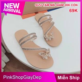 (Miễn ship) Giày nữ, dép kẹp nữ hot trend hình bướm siêu xinh PinkShopGiayDep dép lào nữ hình con bướm thumbnail