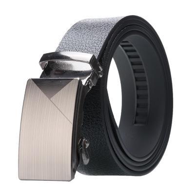 BST thắt lưng nam mặt bạc cao cấp - dây nịt nam Nhật Bản