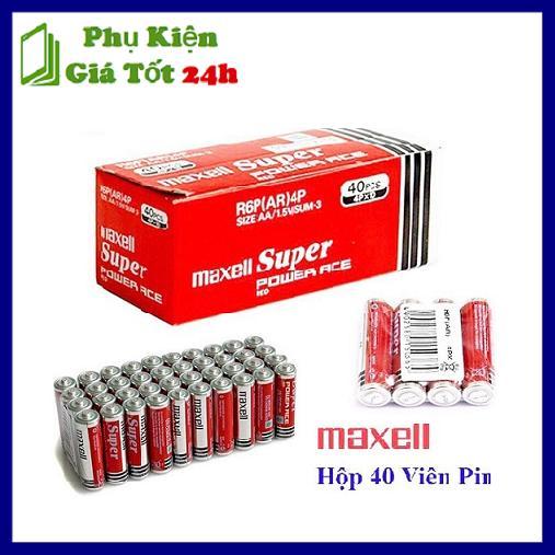 Pin Tiểu AA (2A) Maxell Super Đỏ 1.5V Hộp 40 Viên Giữ điện Lâu Tương Thích Tốt Độ Bền Cao Giá Ưu Đãi Không Thể Bỏ Lỡ