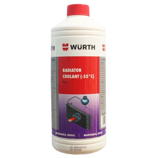 Nước làm mát chống đông pha sẵn chuyên dụng Wurth 1L - PuDa Mall, hàng chính hãng Đức, chăm sóc xe